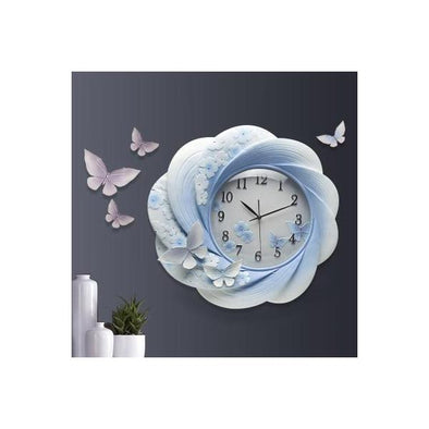 3D Embossed Decorative Resin Wall Clock 6