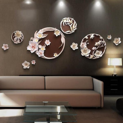 Fu carving Embossed Decorative Painting 3D Sticker