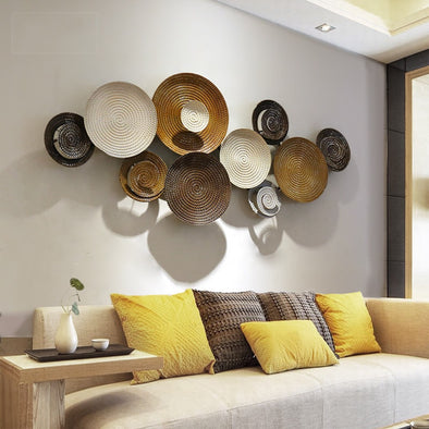 Creative Wrought Iron Wall Art Round Mural Wall Decoration