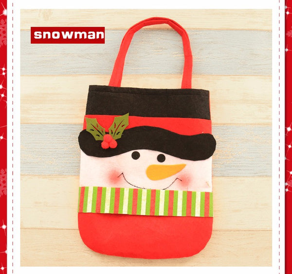 Christmas Gift Treat Candy Wine Bottle Bag