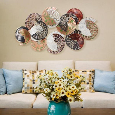 creative three-dimensional metal wall decoration