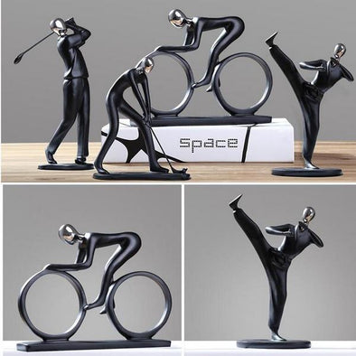 Modern Resin Abstract Rider Singer Figurines - Table Top Decorative Figurine