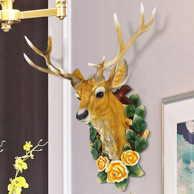 Resin Deer Head Wall Decor Art Animal Head Art