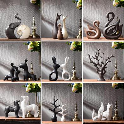 Ceramic Animal Ornament - Modern Decor Living Room 1