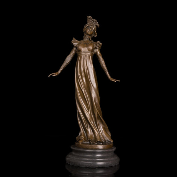 Elegant lady sculpture