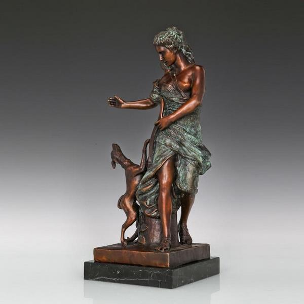 Deanna Goddess Bronze Sculpture - 3