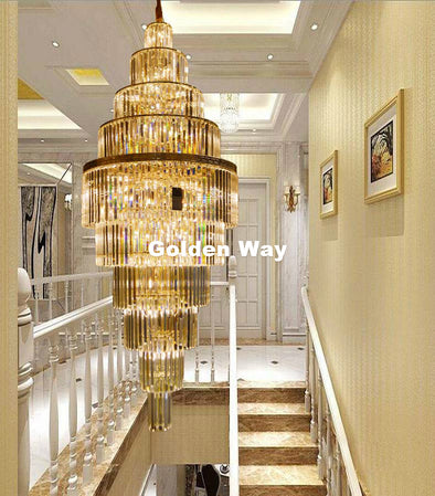 Modern Luxury Golden Crystal Chandelier