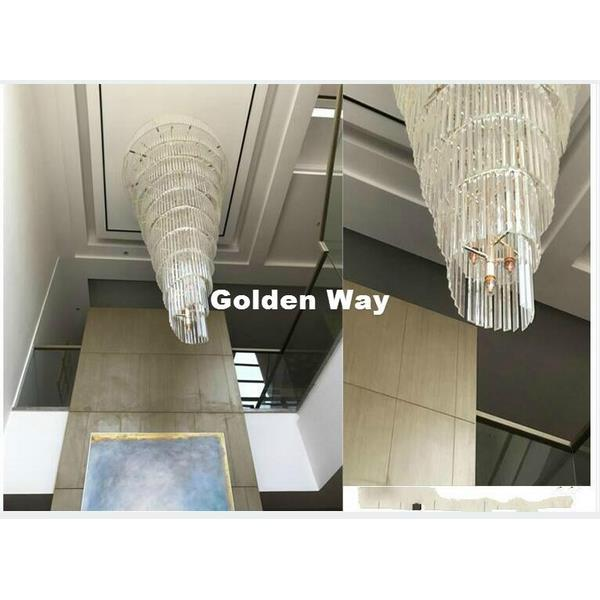 Decorative Golden and Chrome Crystal Chandelier Pendant Light  - 1