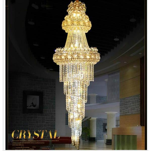 Modern Crystal Staircase Chandeliers Pendant Light Duplicate