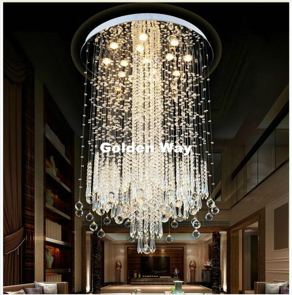 Luxurious Stainless Steel Crystal Pendant Lighting