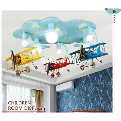 Aeroplane Ceiling Light for Children's Bedroom