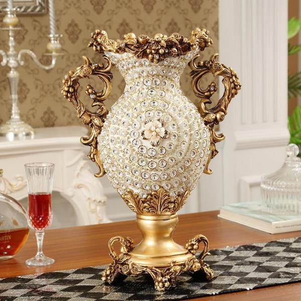 European Style Luxury Diamond Resin Flower Vase 2