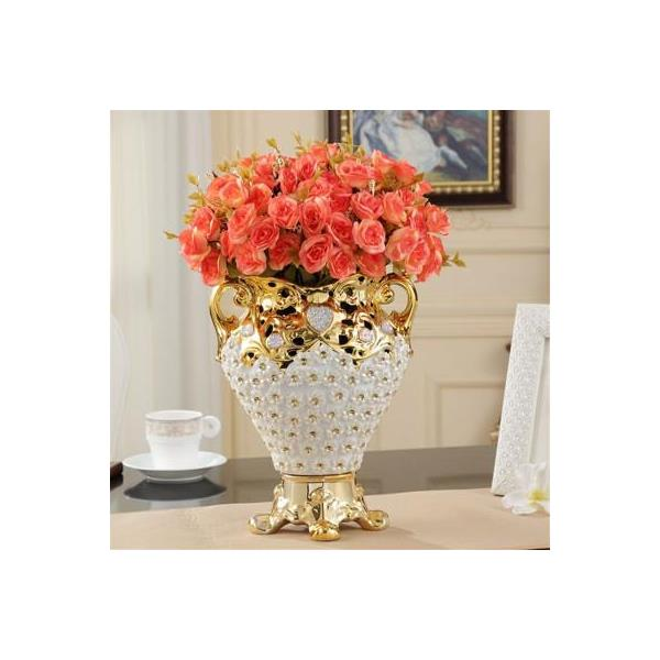 Luxurious High-grade Diamond Resin Vase - 2