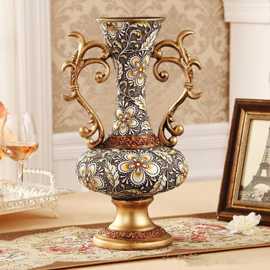 Luxurious Palace Resin Vase