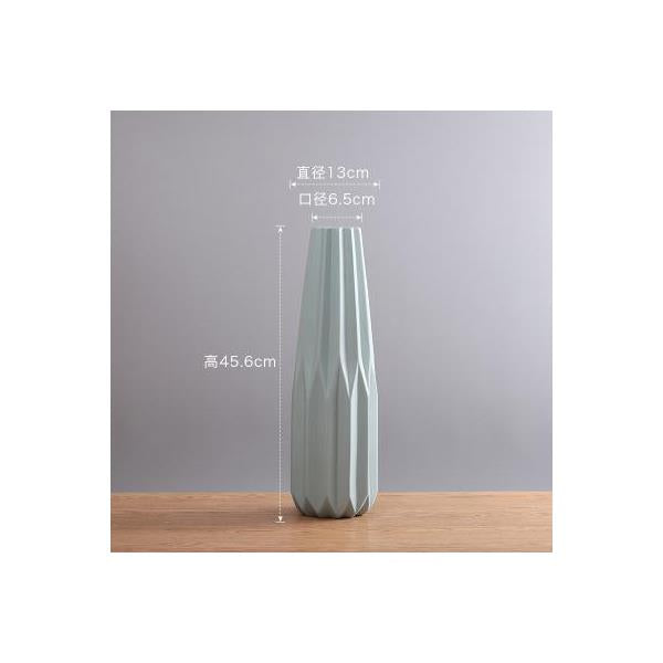 Simple Nordic white green blue ceramic vase - 2