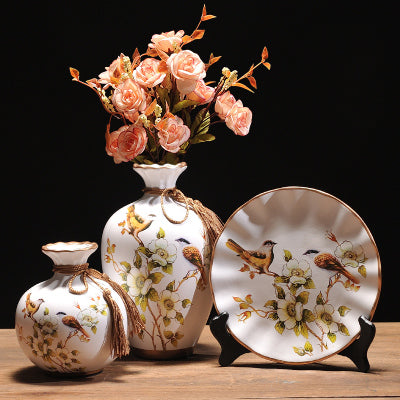Decorative Ceramic Vase with Artificial Flower -  2