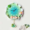 Beautiful Poly Creative Lotus Leaf Wall Clock for Home Decor 4