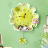 Beautiful Poly Creative Lotus Leaf Wall Clock for Home Decor 2