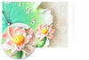 Beautiful Poly Creative Lotus Leaf Wall Clock for Home Decor