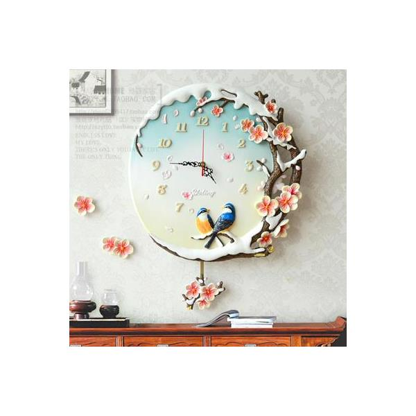 Quartz Wall Clock Modern Pastoral Swing -  2