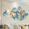 Metal lotus leaf wall decoration - 8