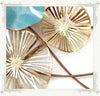 Metal lotus leaf wall decoration - 10