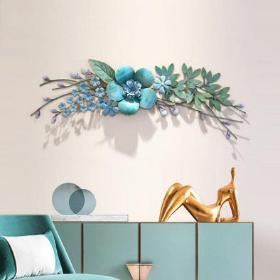 Creative Simulation Wrought Iron Plant Wall Decoration