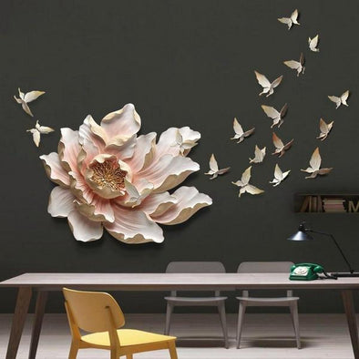 Flower+Butterfly wall decoration 1