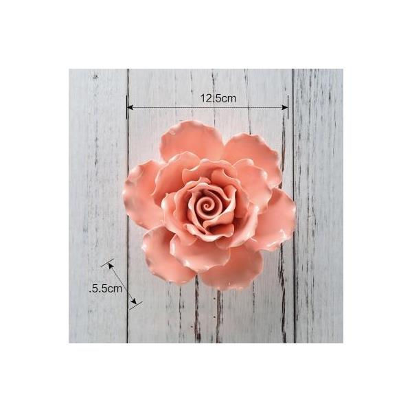 Ceramic three-dimensional flower wall decoration 7