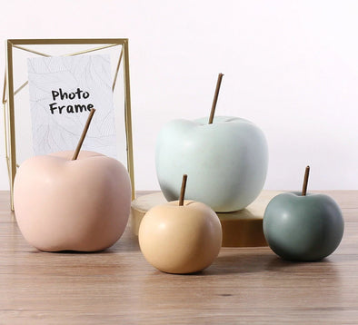 Ceramic Apple Figurines