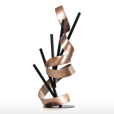 Line and Ribbon Abstract Sculpture