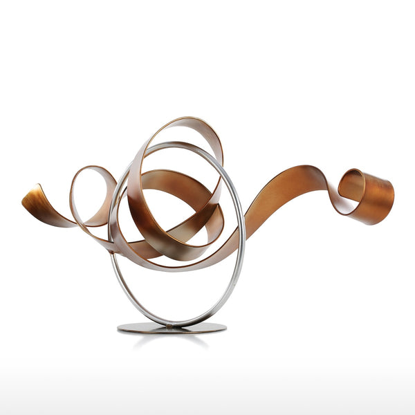 Circle and Ribbon Abstract Sculpture