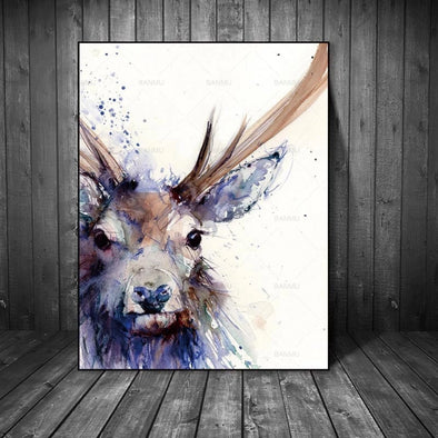 Animal Close up Poster Canvas Painting