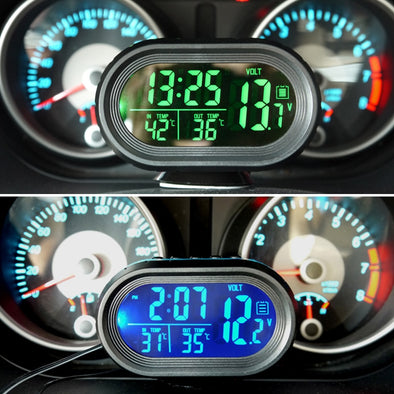 Car Clock & Thermometer with LED lighted
