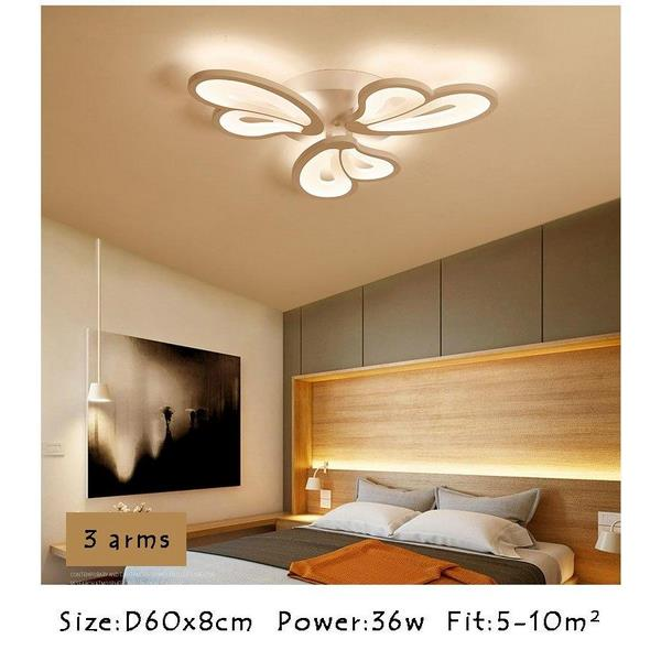 White Modern LED Ceiling Lights for Hall - 7