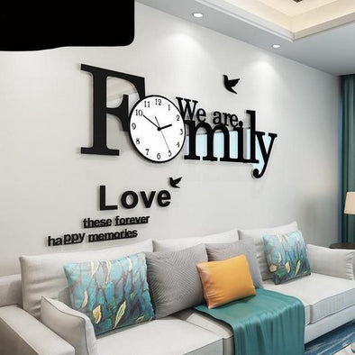 Large Wall Clocks Family-Style for Home Decoration
