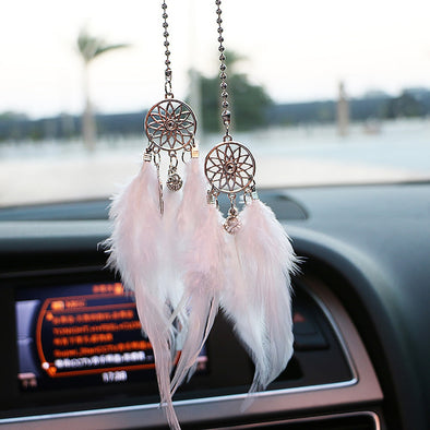 Wind Chimes Feather Car Pendant