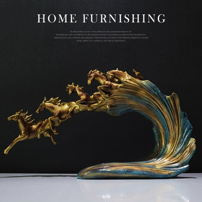 Creative Horse Decoration Showpiece with Running Horse Slow Motion Effect