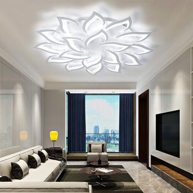 White Finished Modern LED Chandelier
