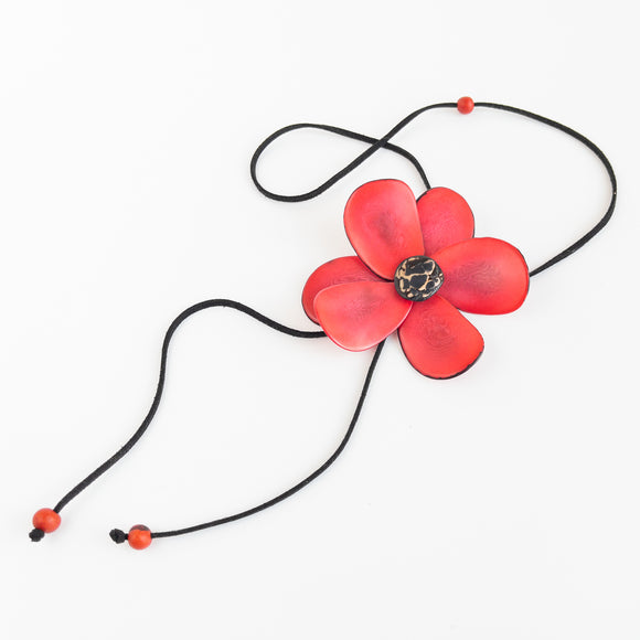 Tagua Flower Necklace