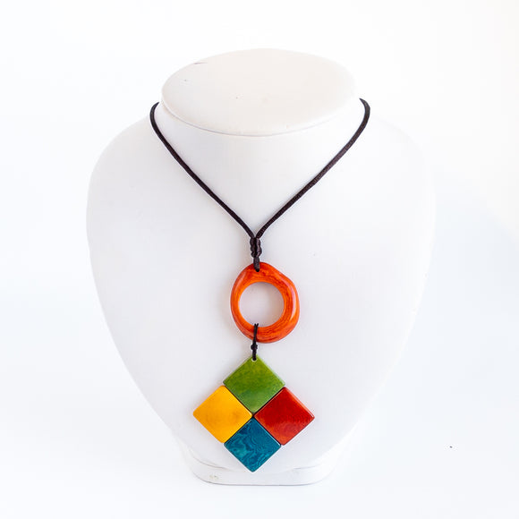 Tagua Mixed Shape Necklace