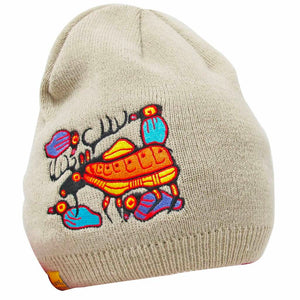 Embroidered Knit Hat - Moose Harmony