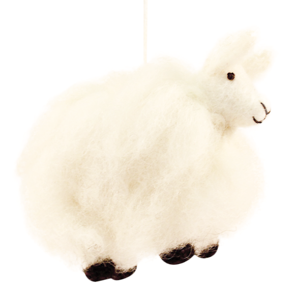 Fuzzy Sheep Ornament