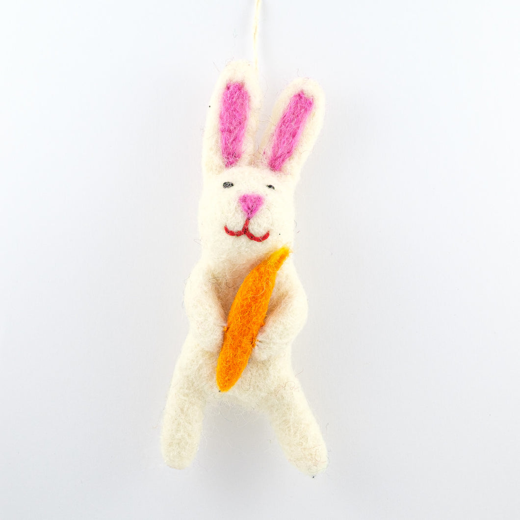 White Bunny with Carrot