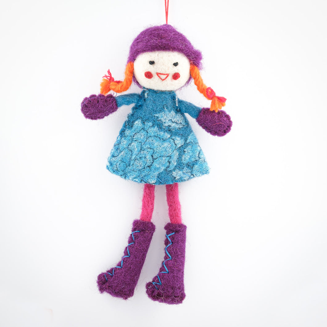 Doll with Turquoise Dress