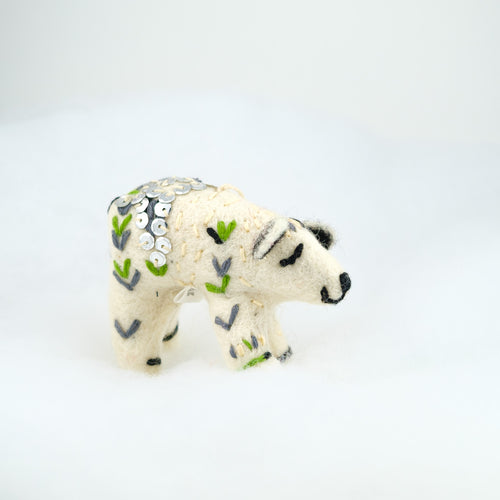Polar Bear with Sequins