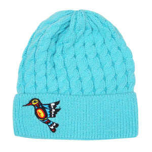 Embroidered Knit Hat - Hummingbird