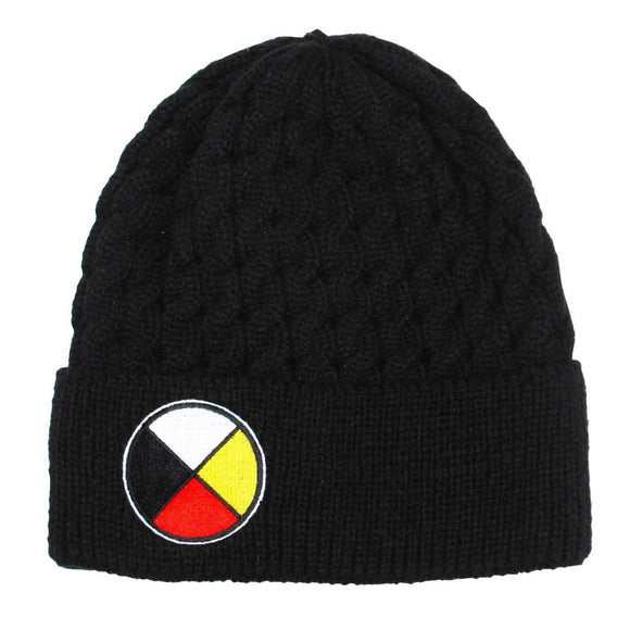Embroidered Knit Hat - Medicine Wheel