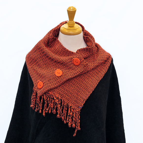 Button-up Cotton Scarf