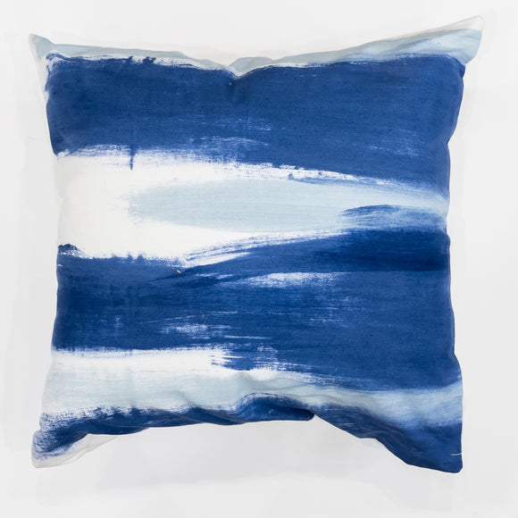 Cushion Cover - Blue Brushstrokes